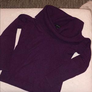 Banana Republic purple cowl neck sweater